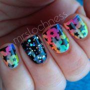 cool star nail art design