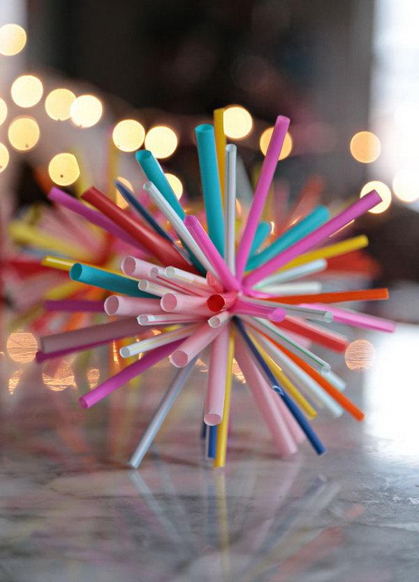 25 DIY Tutorials  Ideas to Make Drinking Straw Crafts