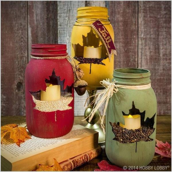 awesome festive mason jar
