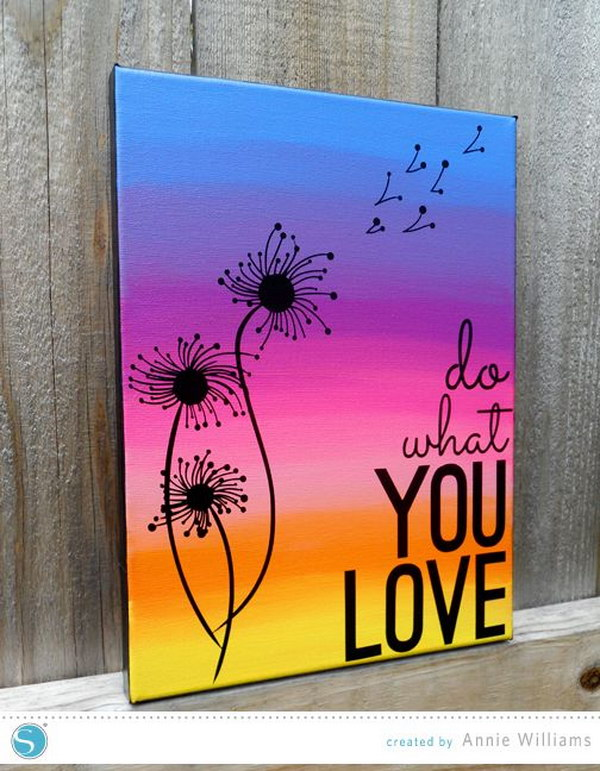 Ombre Canvas Painting Ideas : ombre, canvas, painting, ideas, Awesome, Ideas, Tutorials, Hative
