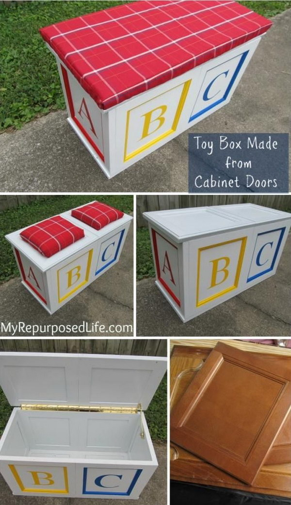 Build a Toy Box from Cabinet Doors