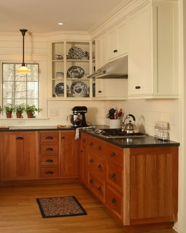 Two-tone Oak Kitchen Cabinets Stylish Two Tone Kitchen Cabinets For Your Inspiration