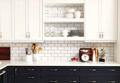 Two Tone Cabinets Contemporary Kitchen Bhg