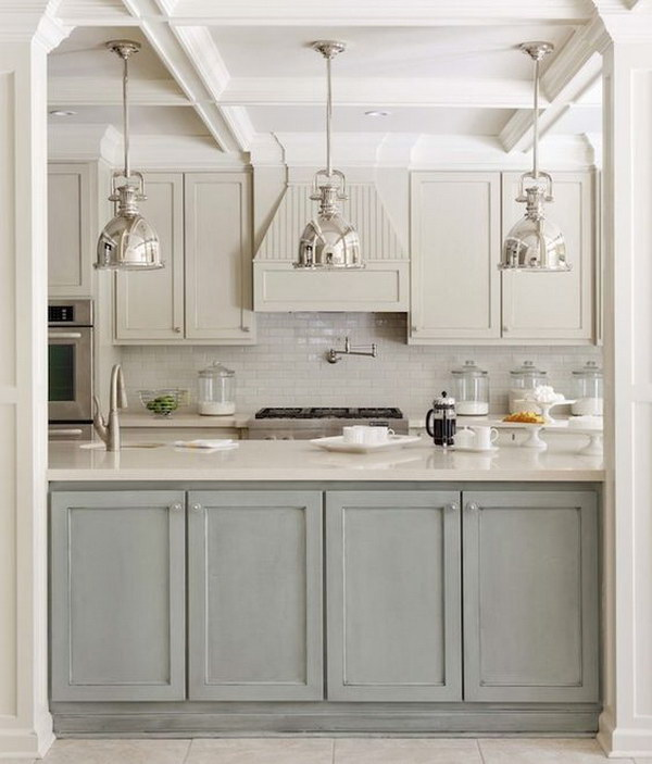two tone kitchen island milo's stylish cabinets for your inspiration hative design with gray green and light