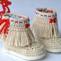 Crochet Baby Booties Diagram Pioneer Fh X700bt Wiring Cool Patterns Ideas For Babies Hative Fringe Moccasins