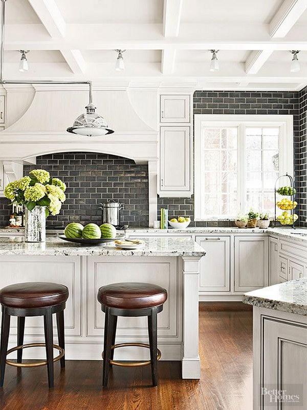 white kitchen backsplash cupboard protectors 35 beautiful ideas hative with a black subway tile