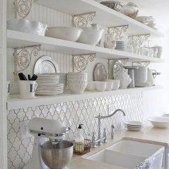 White Kitchen Backsplash Cape Cod Design Ideas 35 Beautiful Hative With Moroccan Tile Back Splash Beneath The Openshelves