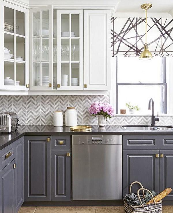 White And Grey Kitchen Backsplash Ideas Novocom Top