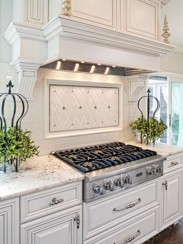 kitchen backsplashes delta faucet repair parts 35 beautiful backsplash ideas hative white with light gray and silver accents a tile