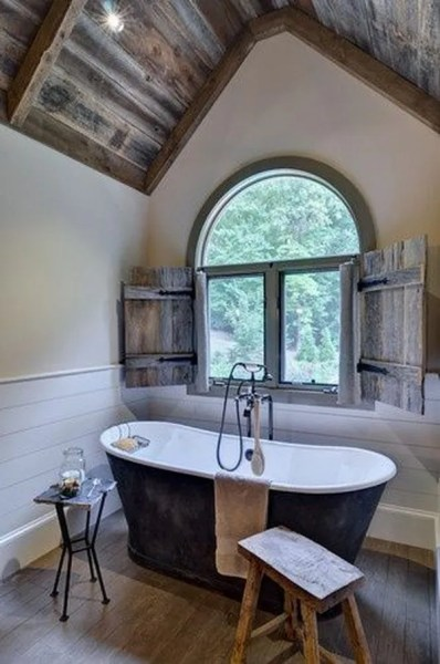 rustic master bathroom Rustic Farmhouse Bathroom Ideas - Hative