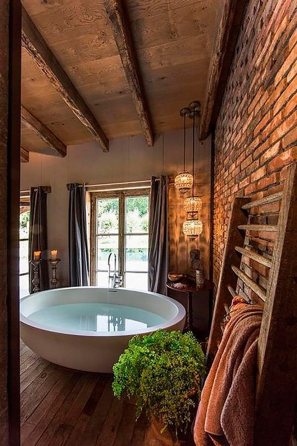 33 Bathroom Designs with Brick Wall Tiles