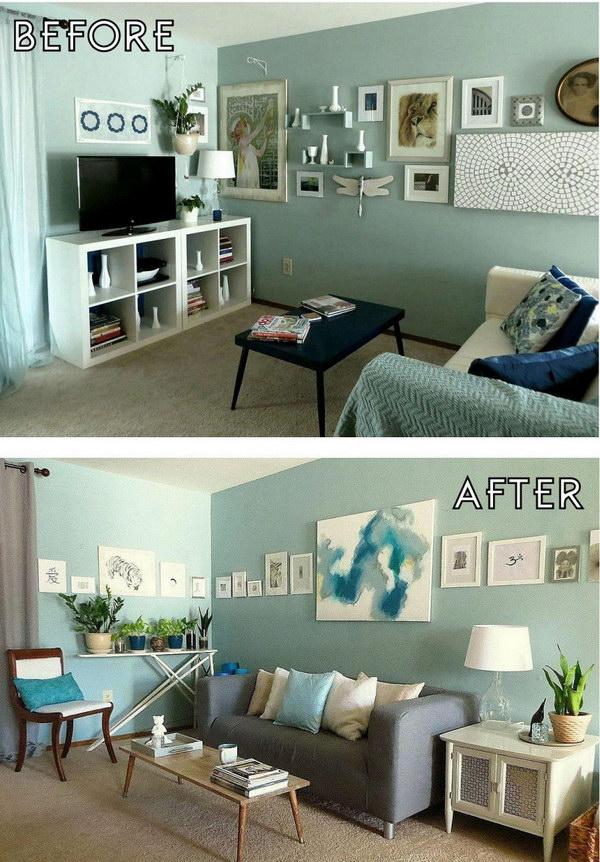 Hgtv Red Living Room Makeover
