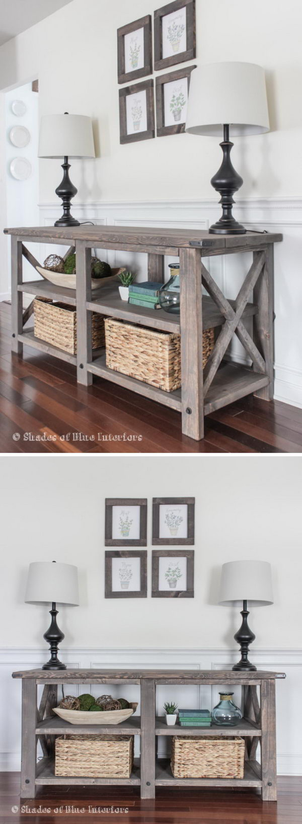 build a rustic sofa table denim slipcovers for sofas 20 easy diy console and ideas hative