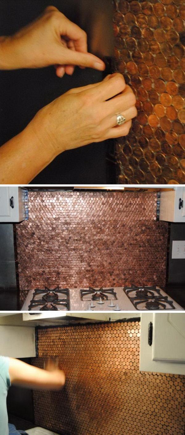white tile backsplash kitchen wall racks 25+ frugal and creative diy projects ...