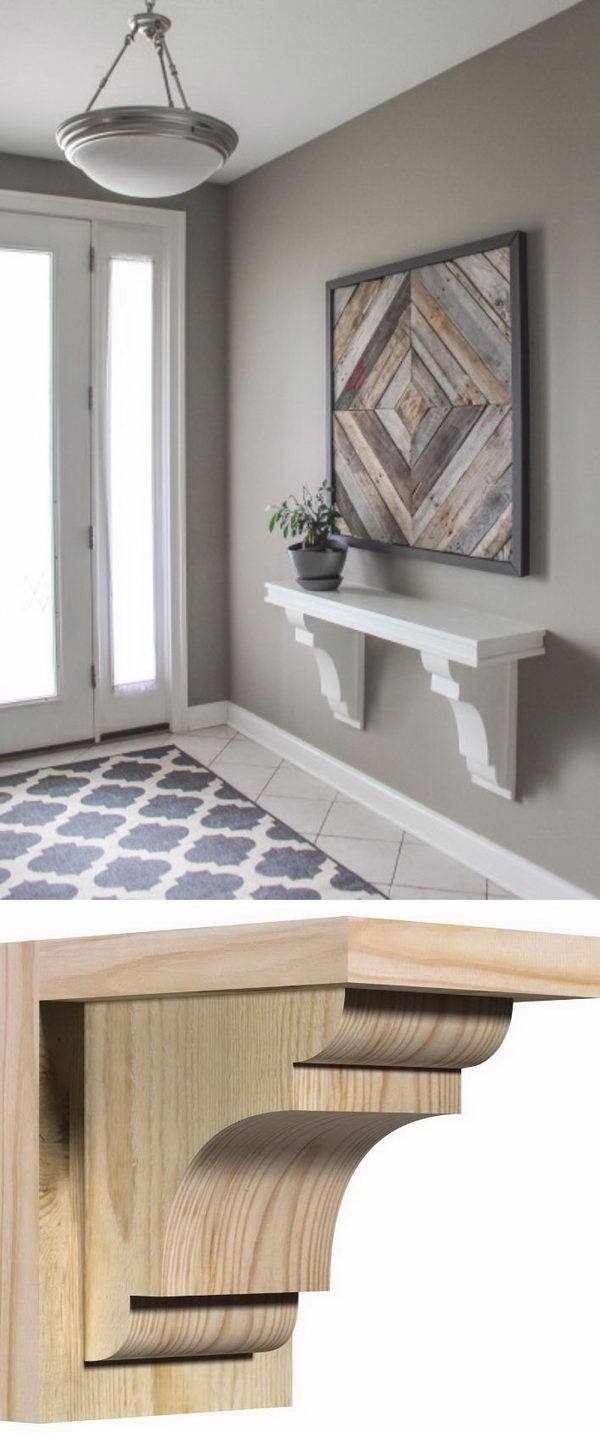 30 Cheap and Creative DIY Home Decor Projects Using Corbels  Hative