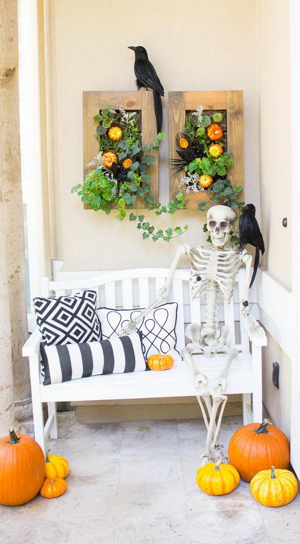 Halloween Front Porch Displays