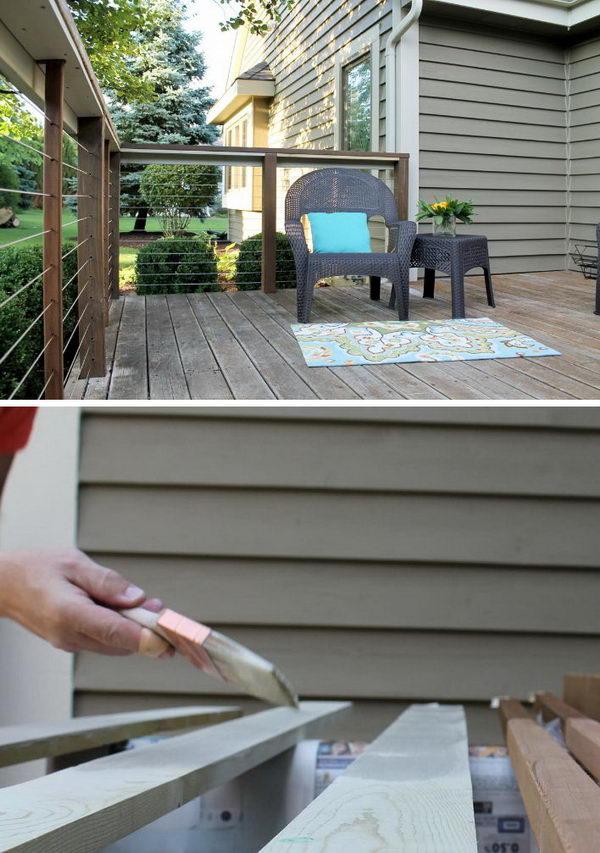 20+ DIY Deck Railing Ideas