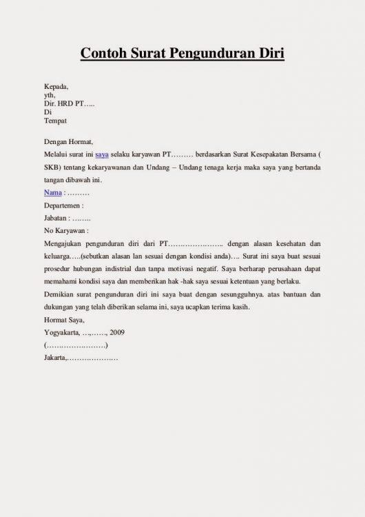 [BACA] !!! 3 Contoh Surat Berhenti Kerja Karena Tempat ...