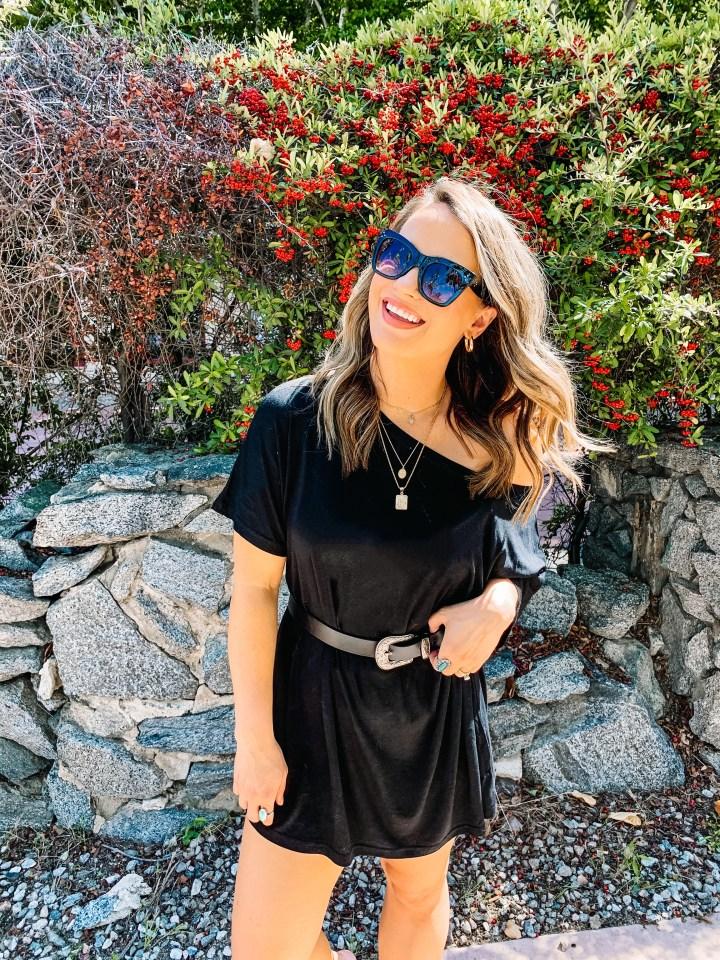 amazon fashion, amazon finds, tshirt dress, little black dress