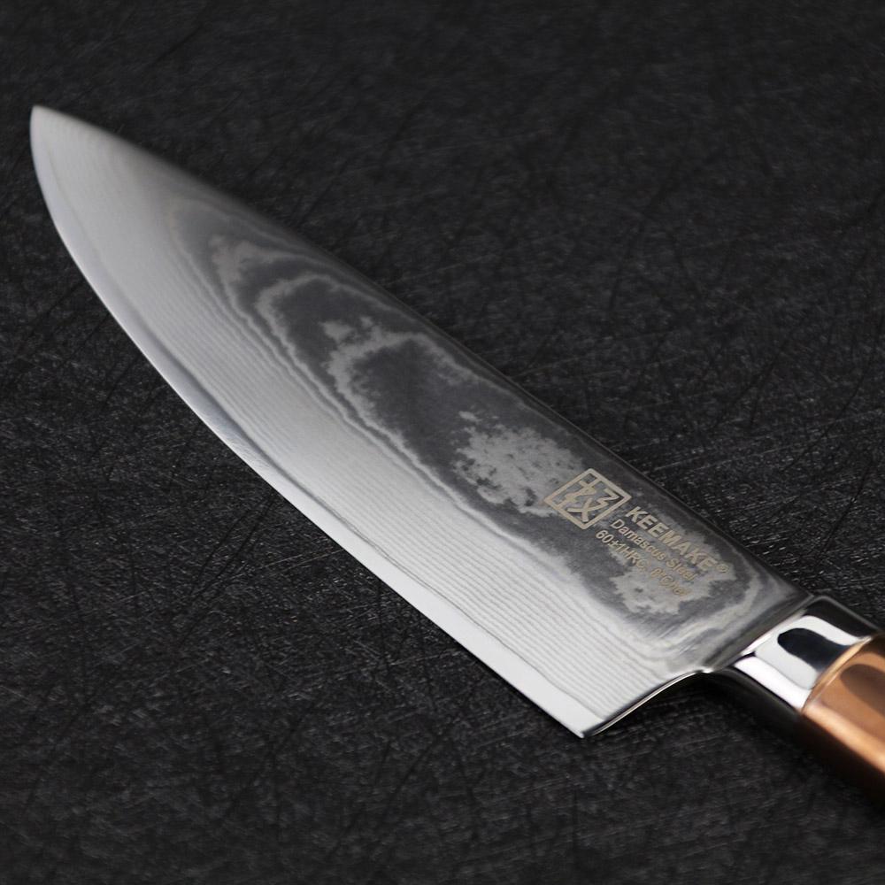 Superieur Saisei Series: Chefu0027s Knife 8u2033 U2013 Damascus Steel U2013 Titanium Handle