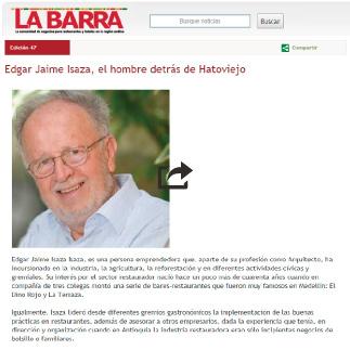 La Barra, Edgar Jaime Isaza