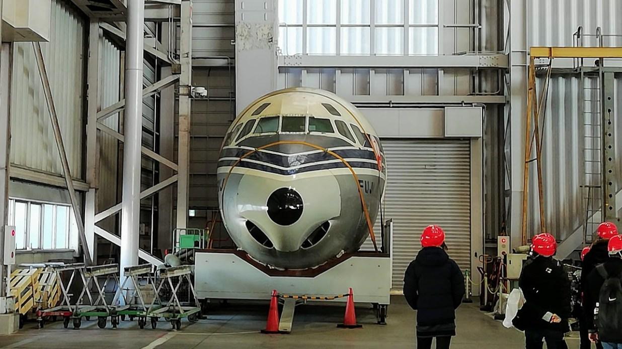日本航空(JAL)工場見学ツアー 格納庫