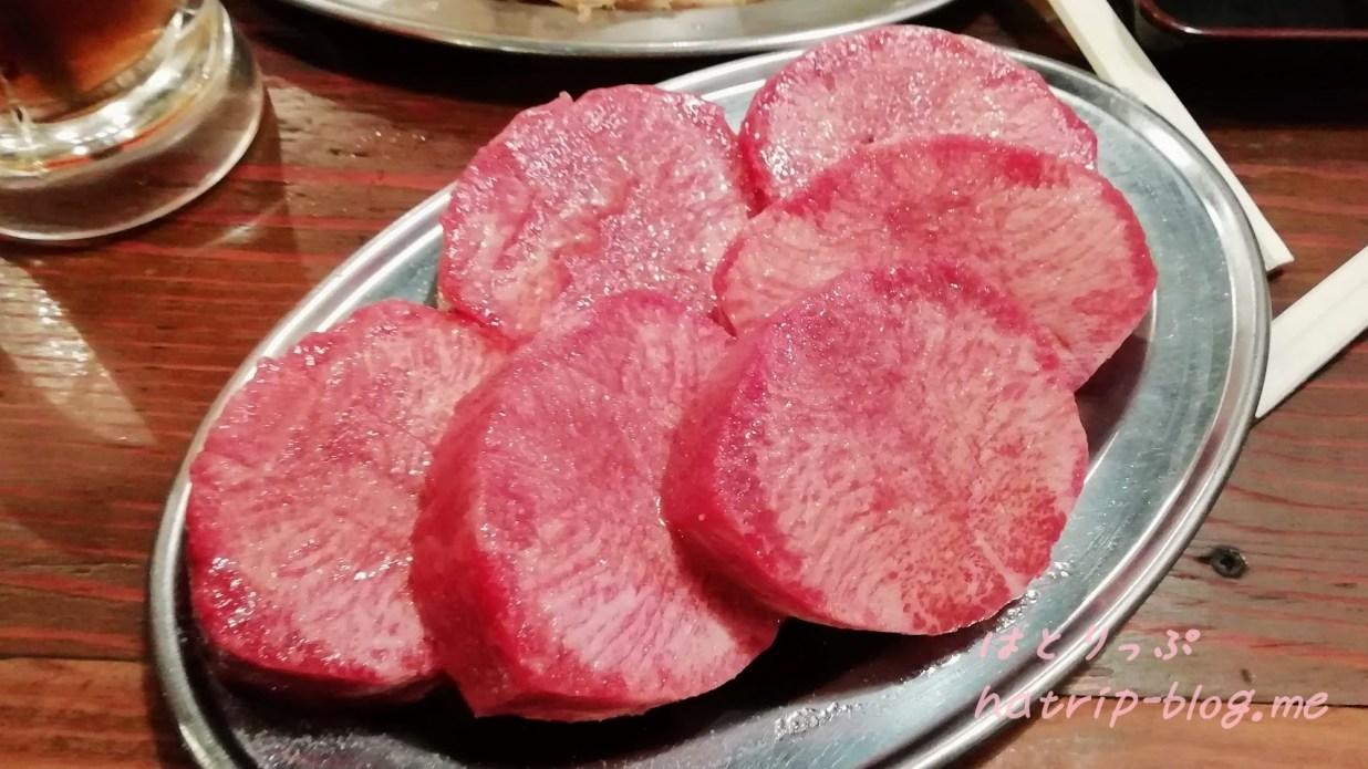 板橋本町 焼肉屋 炭火焼肉ホルモン 時楽 ワイルドタンコース ワイルドタン