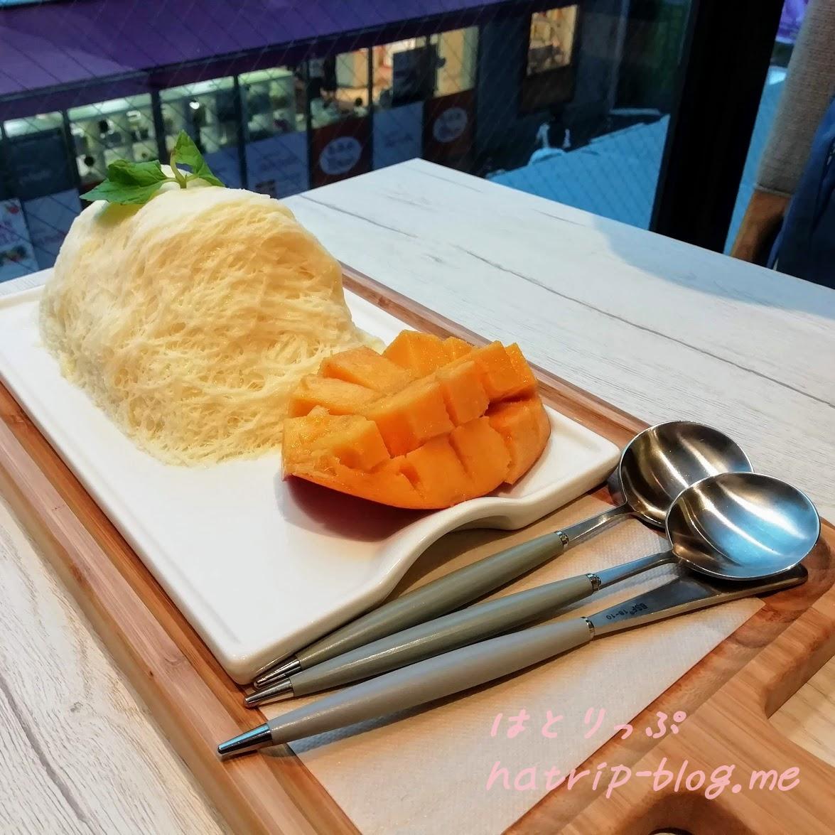 韓国 Seoul cafe ソウルカフェ 新大久保 糸かき氷 ソルビン