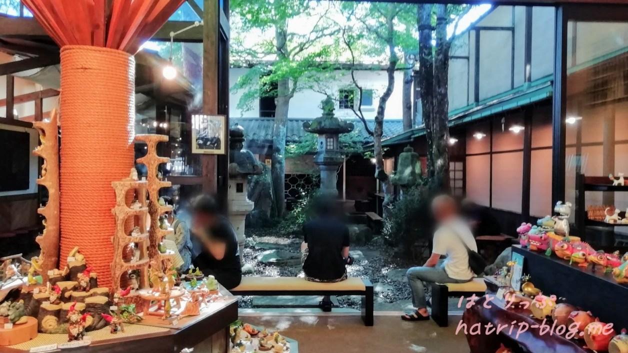 古い町並み さんまち通り 飛騨牛握り寿司 こって牛 咲くやこの花 飲食スペース