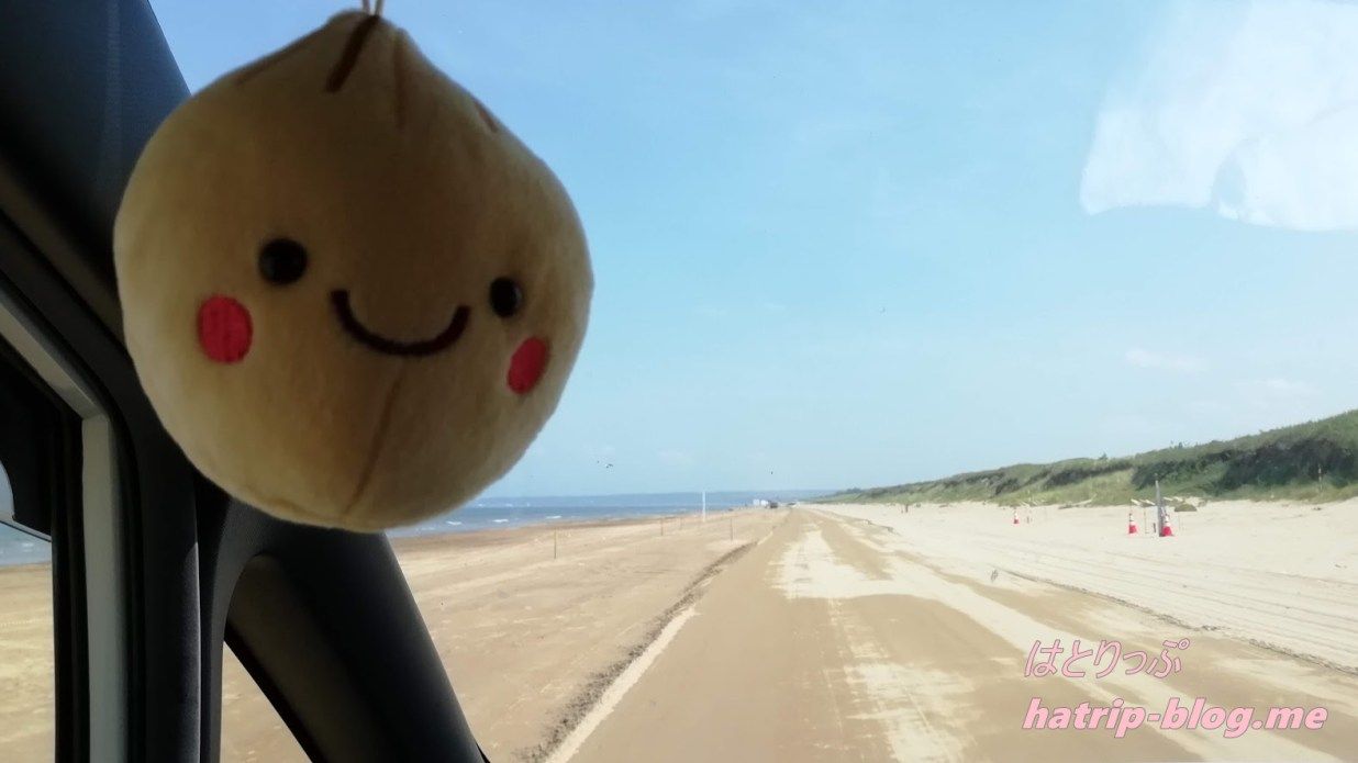 石川県 千里浜なぎさドライブウェイ 今浜海水浴場 たまちゃん