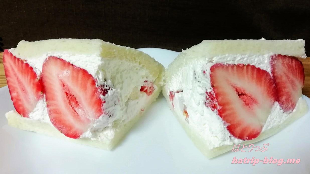 埼玉県草加市 フルーツパーラー808 フルーツサンド やよい姫サンド