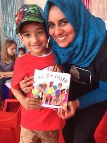 Hajera and a happy customer