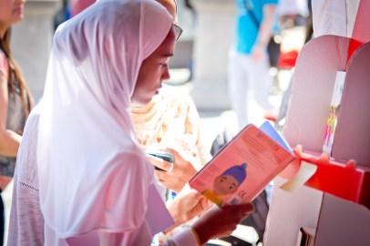 Reader in white