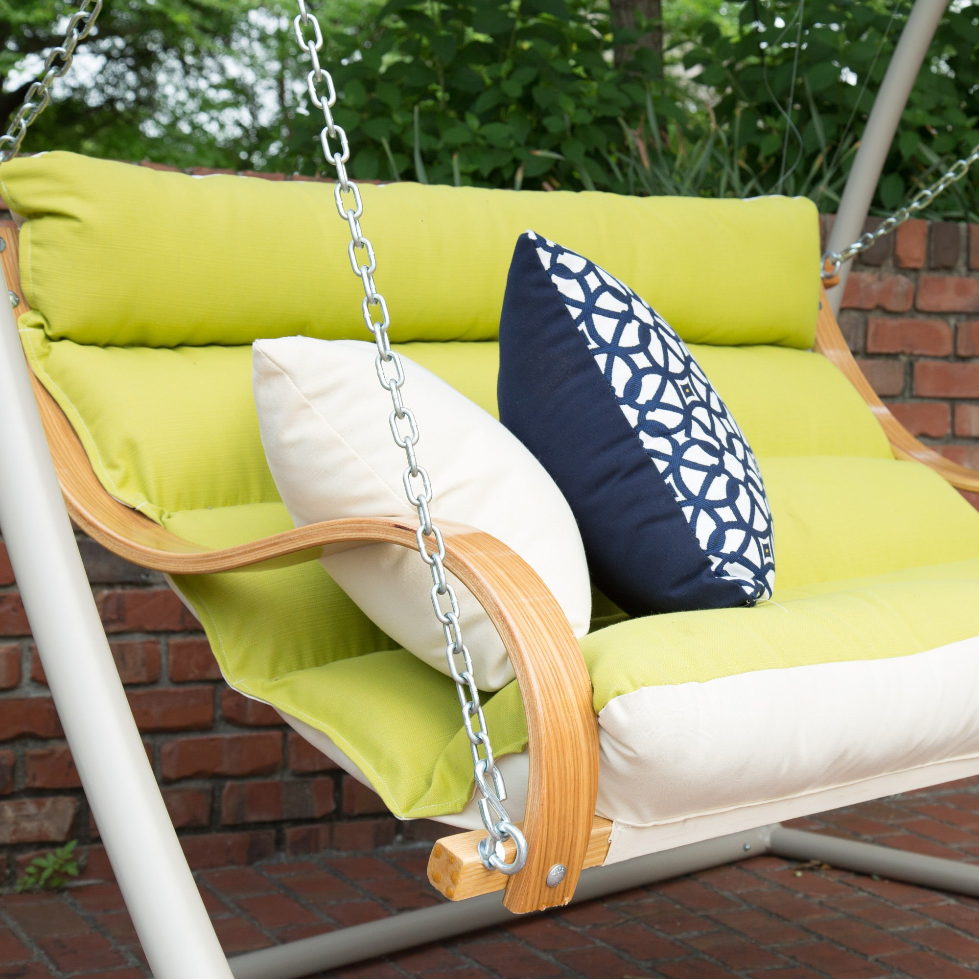 Echo Limelight Deluxe Cushioned Double Porch Swing