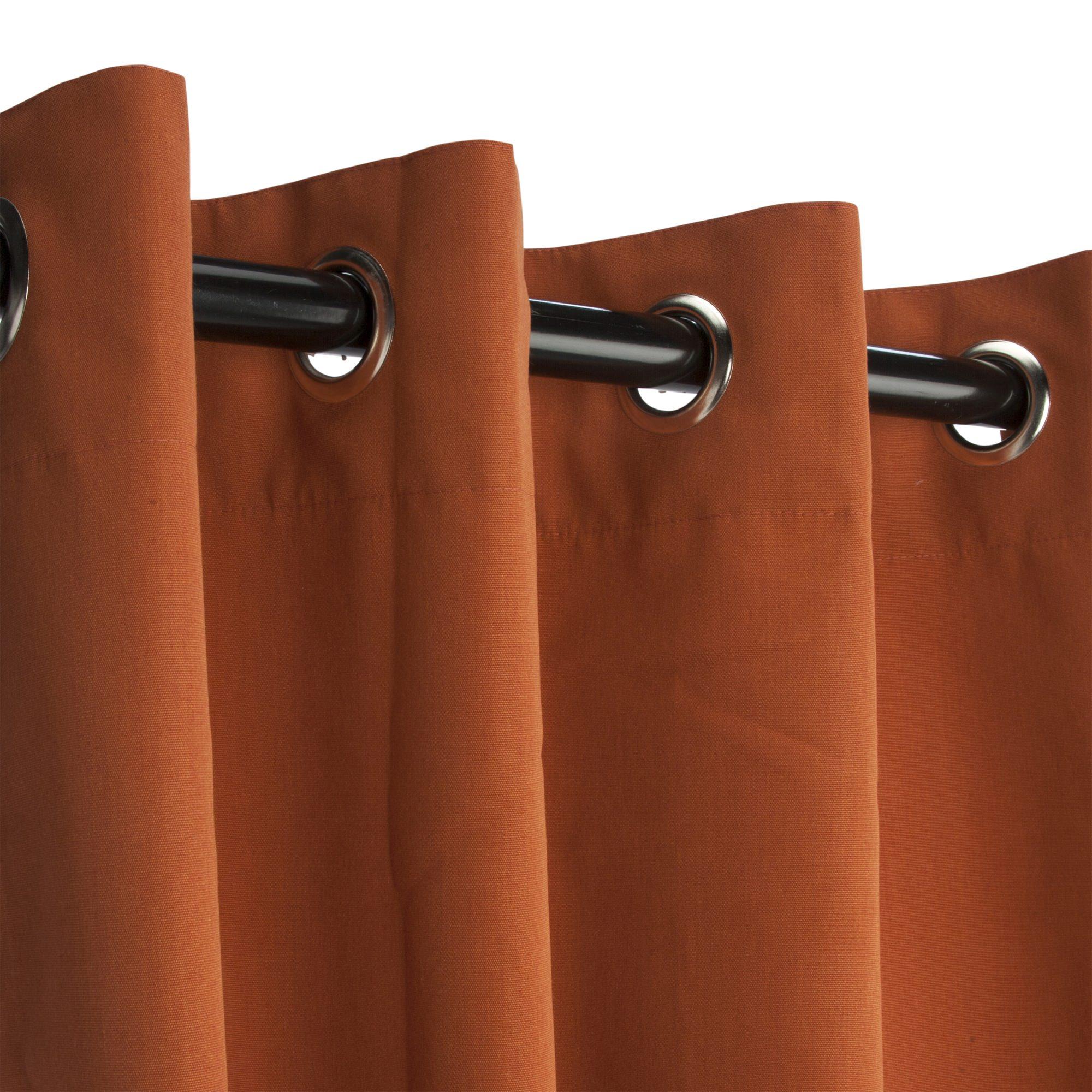 Rust Grommeted Sunbrella Outdoor Curtains