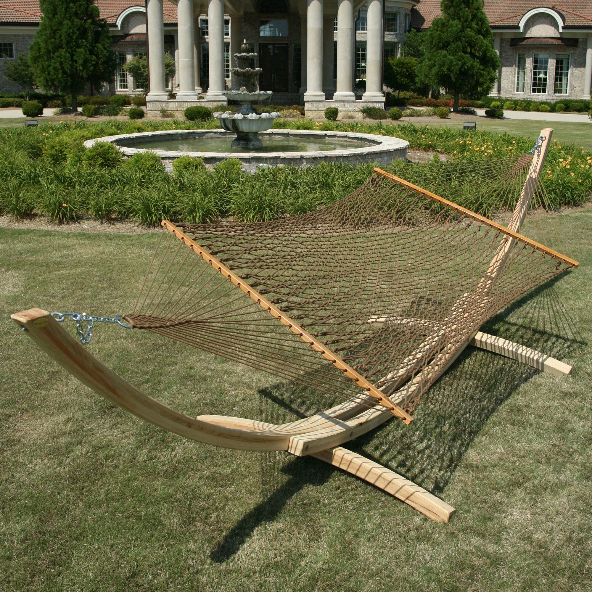 Deluxe DuraCord Rope Hammock  Antique Brown  DC14AB