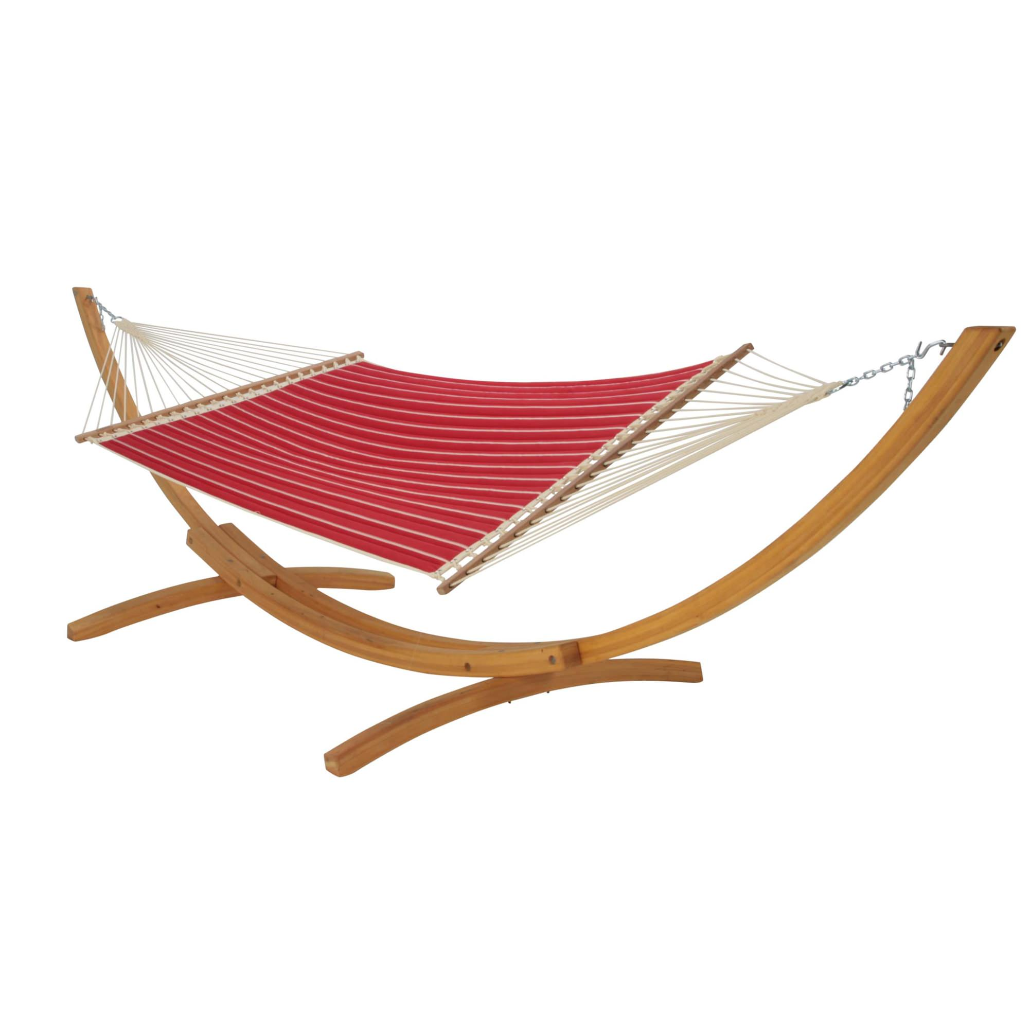 Hatteras Hammocks Classic Red Stripe Quilted Hammock