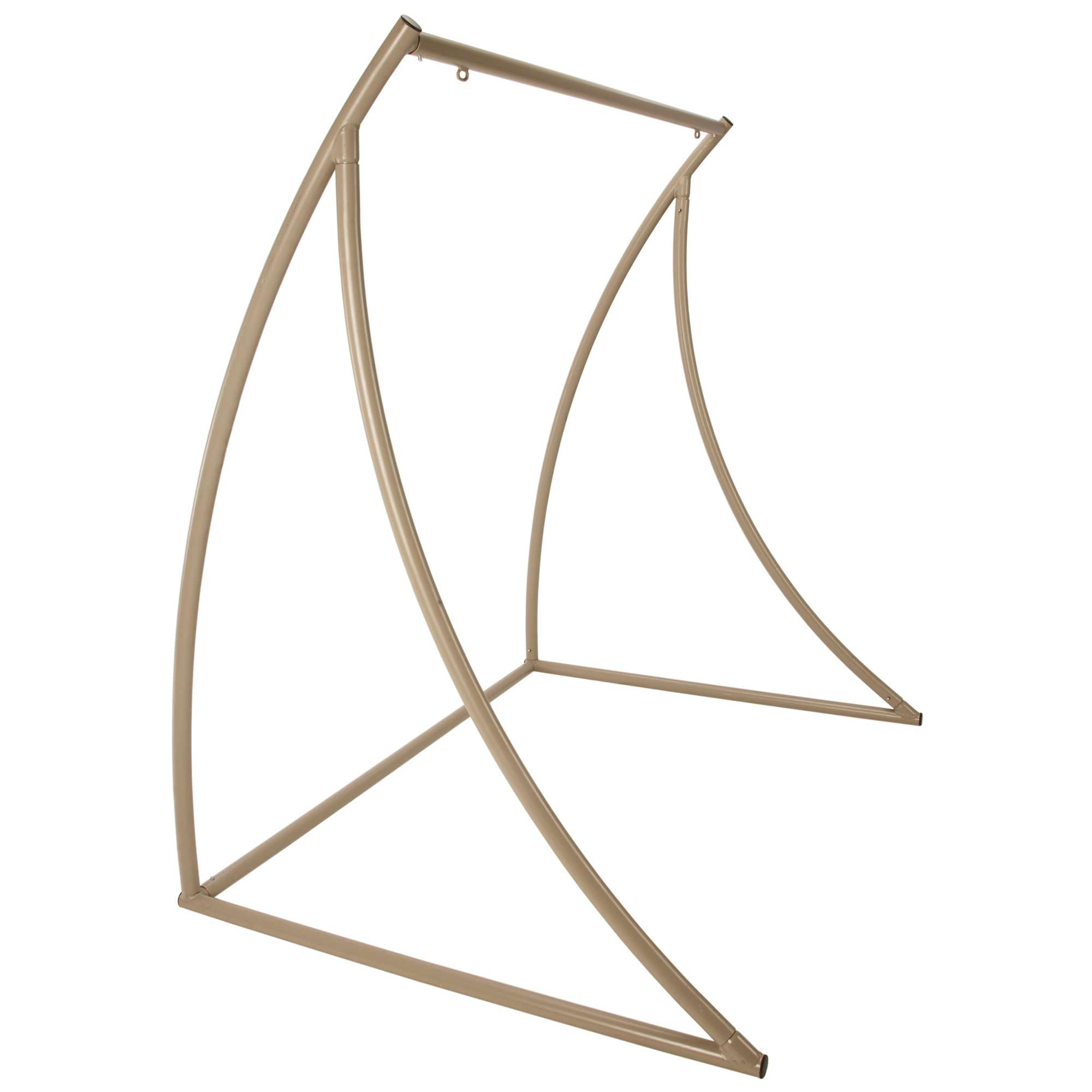 steel hammock chair stand office with adjustable arms curved taupe metal double swing on sale swsc2t