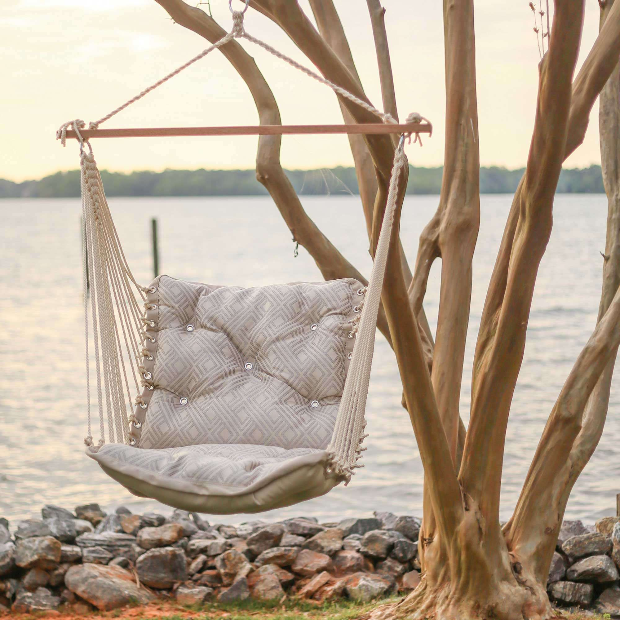 How To Make A Hammock Chair Integrated Pewter Tufted Single Porch Swing Hatteras