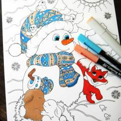 My Little Pony Table And Chairs The Cozy Sac Bean Bag Hattifant Winter Coloring Page Snowman Fox Rabbits -