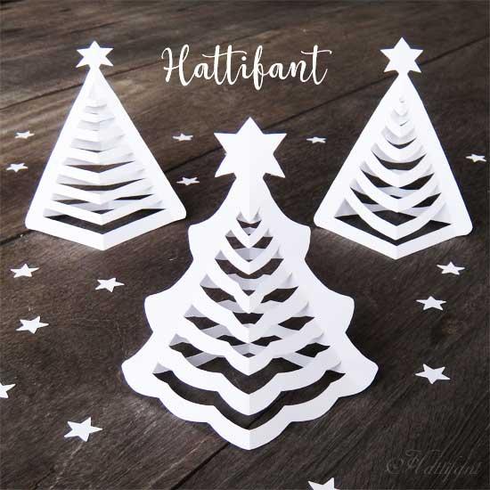 3d Paper Christmas Ornaments