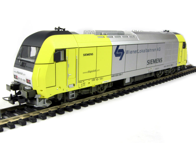 hattons.co.uk - Piko 57585 Class Rh2016 Hercules 4 axle diesel loco of the Austrian WLB in yellow & silver livery Epoch V