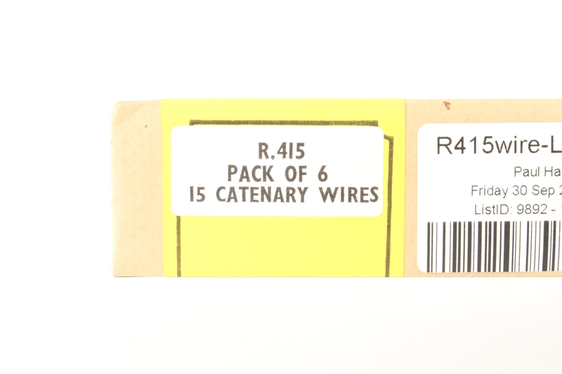 """Hornby R415wire Pack Of 20 15"""" Catenary Wires"""