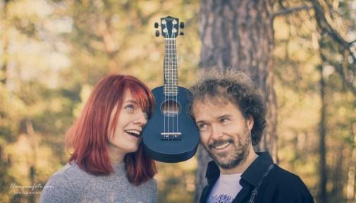 Anette og Øyvind. Musikere.