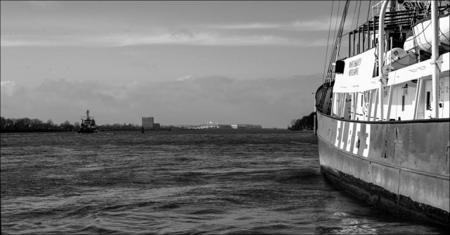 le bateau-phare « Elbe 3 » au port-musée de Övelgönne
