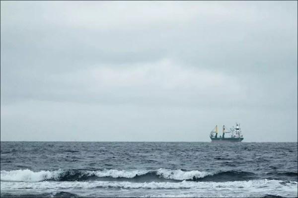 Un cargo sur son chemin vers la Baltique