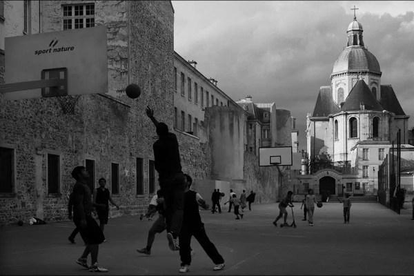 … un jeu de basket au soir