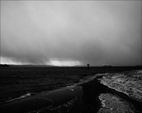 Kiel fjord sous la pluie