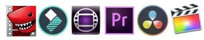 Video Editing Software Lightworks Filmora Avid Media Composer Adobe Premiere daVinci Resolve Final Cut Pro X