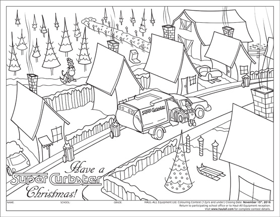 Haul-All Winter Holiday Colouring Contest